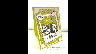 Party pandas selfie card... Stampin' Up!