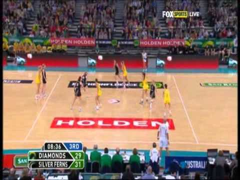 Netball: Diamonds v Silver Ferns Constellation Cup 2012 Test 1