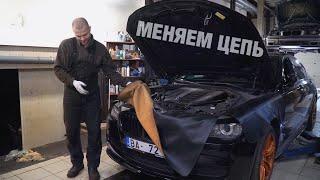 BMW F01 740D МЕНЯЕМ цепь на машине МОТОХАНТЕРСА!