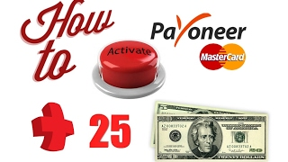 How to activate Payoneer prepaid Mastercard and make money online