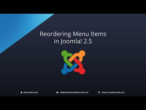 Reordering Menu Items (Joomla 2.5)