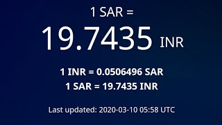 #Exchange Rates # Indian Rupees | #10-Mar-2020 | 09:00 am | #Gulf tech | #Tamil | #HIGH