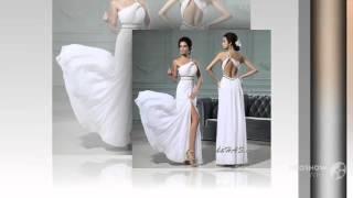 Свадебные платья Noiva белый длинная пром платье одно плечо кристалл шифон пром платья обы