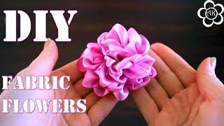 Цветы из Лент Мастер Класс / Пион из Ткани / DIY Kanzashi Flowers(Меня зовут Настя, и я рада приветствовать вас на своем канале, на котором представлены мастер класс по канза..., 2014-06-06T06:30:01.000Z)