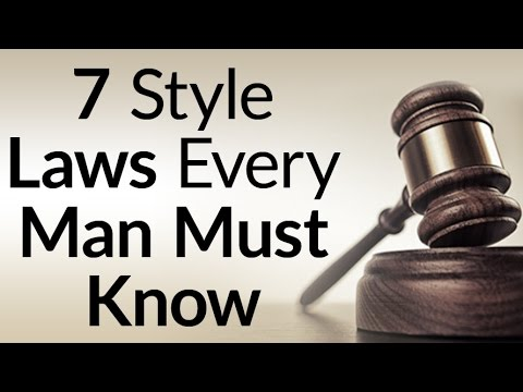 7 Style Laws Every Man Must Know | Formulas To Build A Core Wardrobe