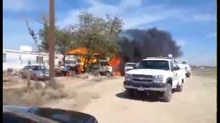 Reader-submitted video: Lancaster fire destroys trailer, kills puppy