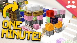 10 ONE MINUTE Redstone Builds in Minecraft 1.13!