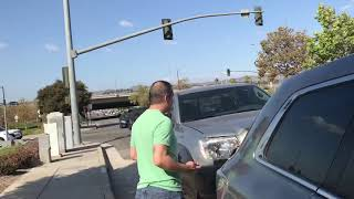 Crazy man car accident pt.3