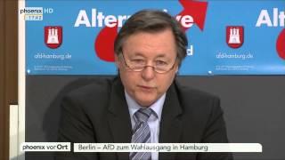 Wahl in Hamburg: Jörn Kruse und Frauke Petry zum Wahlausgang am 16.02.2015