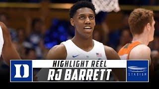 RJ Barrett Duke Basketball Highlights - 2018-19 Season | Stadium