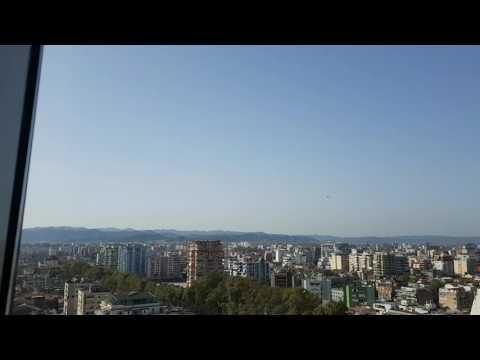 Video from the 360 rotating skybar in Tirana, Albania