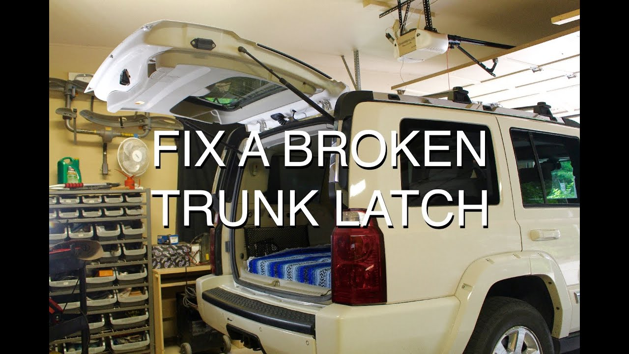 How To Fix A Broken Trunk Latch Youtube
