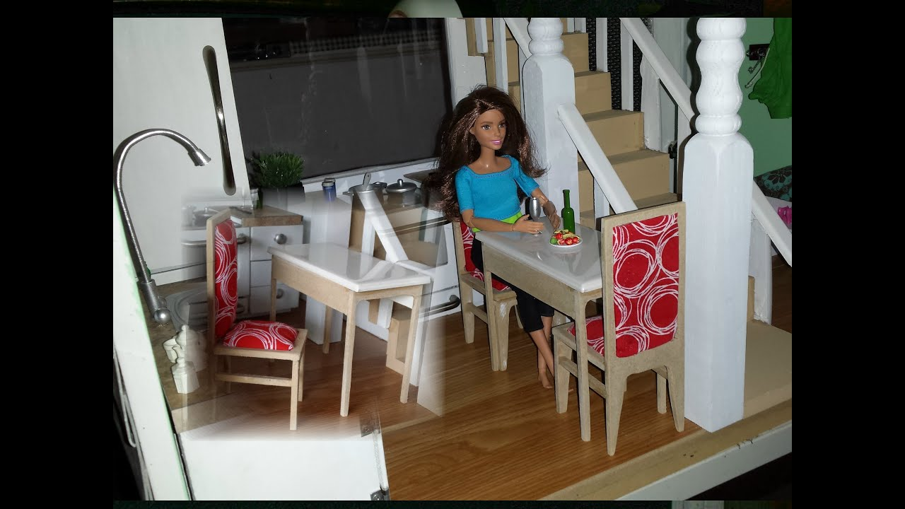 How To Make Doll House Table And Chairs Youtube