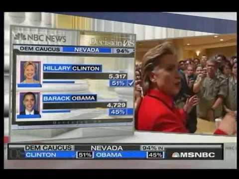 MSNBC Nevada/SC Coverage - Clinton Wins in Nevada