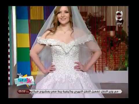 e8c7bb59f شاهد أحدث صيحات الموضة في فساتين الزفاف والخطوبة مع مصمم الأزياء أحمد  المغازي