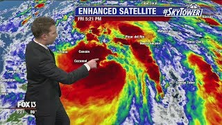 Tropical Storm Nate: Friday night update