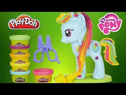 NEW PLAY DOH Rainbow Dash Style Salon My Little Pony Plastilina Salón Playdough Toys
