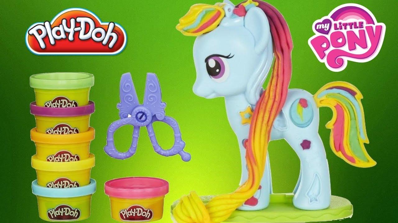 New Play Doh Rainbow Dash Style Salon My Little Pony Plastilina Sal N Playdough Toys Youtube