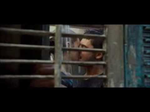 The lucky one kissing scene