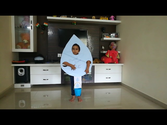 Drop of Water for Fancy Dress Competition/ Water Drop as Fancy dress/ Save Water Fancy Dress | Pari