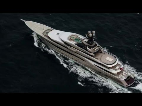 Aerial View of 95m KISMET, 007's Sailing Yacht For Sale, Leo Charters TOPAZ & much more