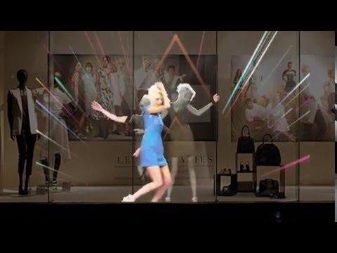 Инновационная видеореклама в движении - видео витрина, голограмма