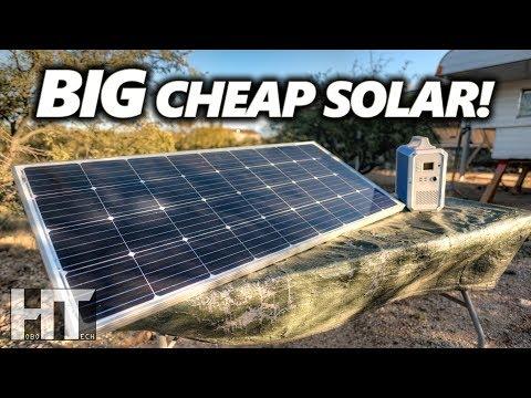 large-affordable-off-grid-solar!-bougerv-170-watt-monocrystalline-rigid-solar-panel-review