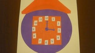 видео Часы из картона и цветной бумаги со стрелками