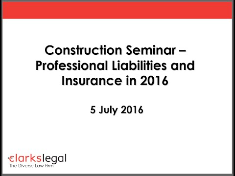Webinar: Professional Liabilities and Insurance in 2016
