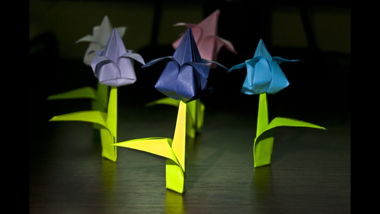 How to make an origami flower tulip youtube how to make an origami flower tulip mightylinksfo