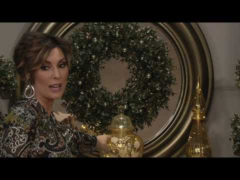 Choice Of Boxwood Wreath Or Topiary By Valerie On QVC