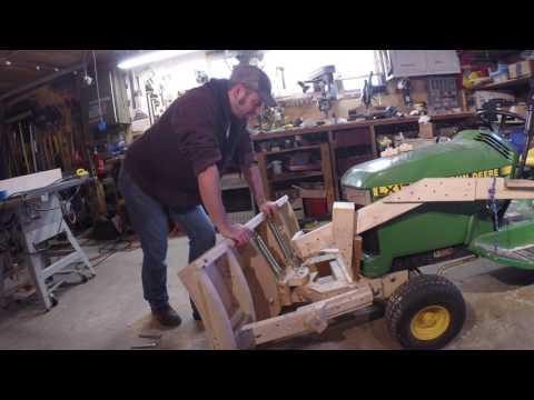 Shop Built Wooden Snow Plow for John Deere Mower