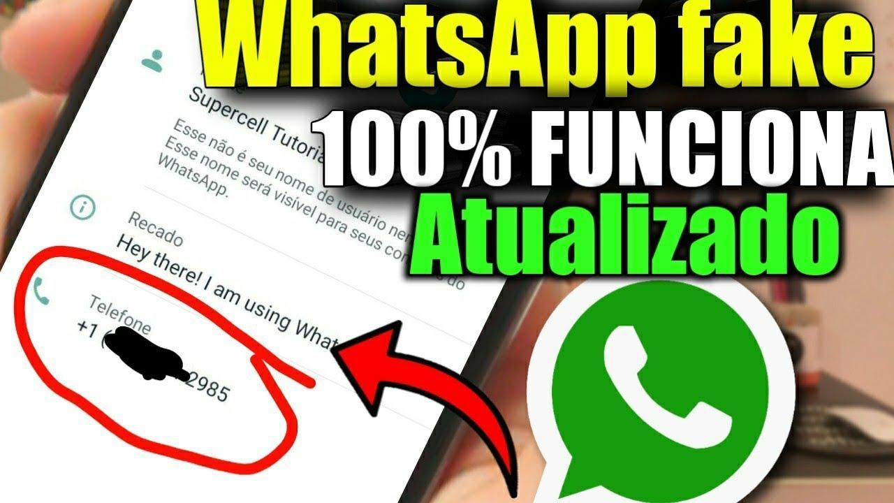 WhatsApp fake 100 % funciona, número fake atualizado - YouTube