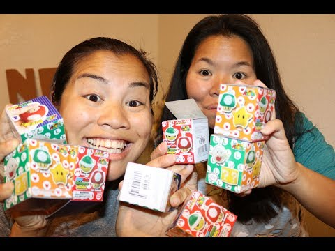 Super Mario Soft Squeeze Keychain Unboxing - With Jennifer!