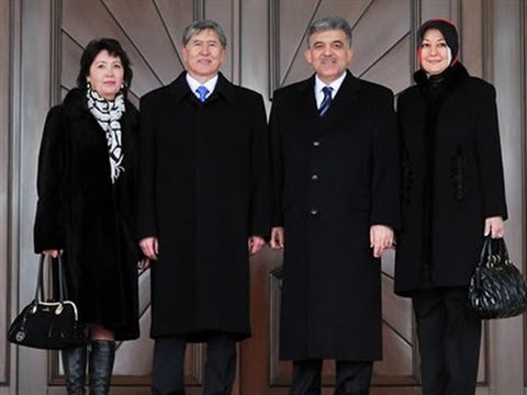Kırgızistan Cumhurbaşkanı Almazbek Atambayev Çankaya Köşkü'nde-12.01.2012