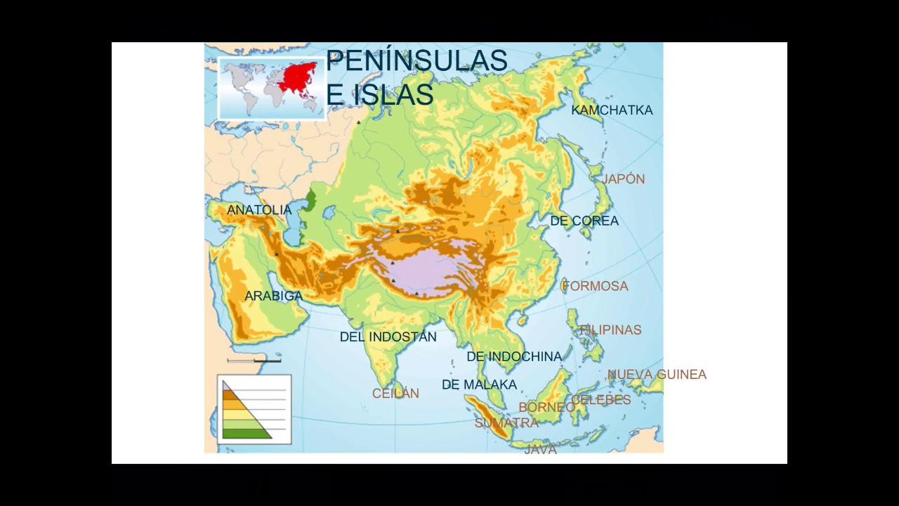 Como Aprender Facilmente El Mapa Fisico De Asia Youtube