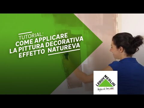 Come applicare la pittura decorativa natureva leroy for Leroy merlin pittura lavabile