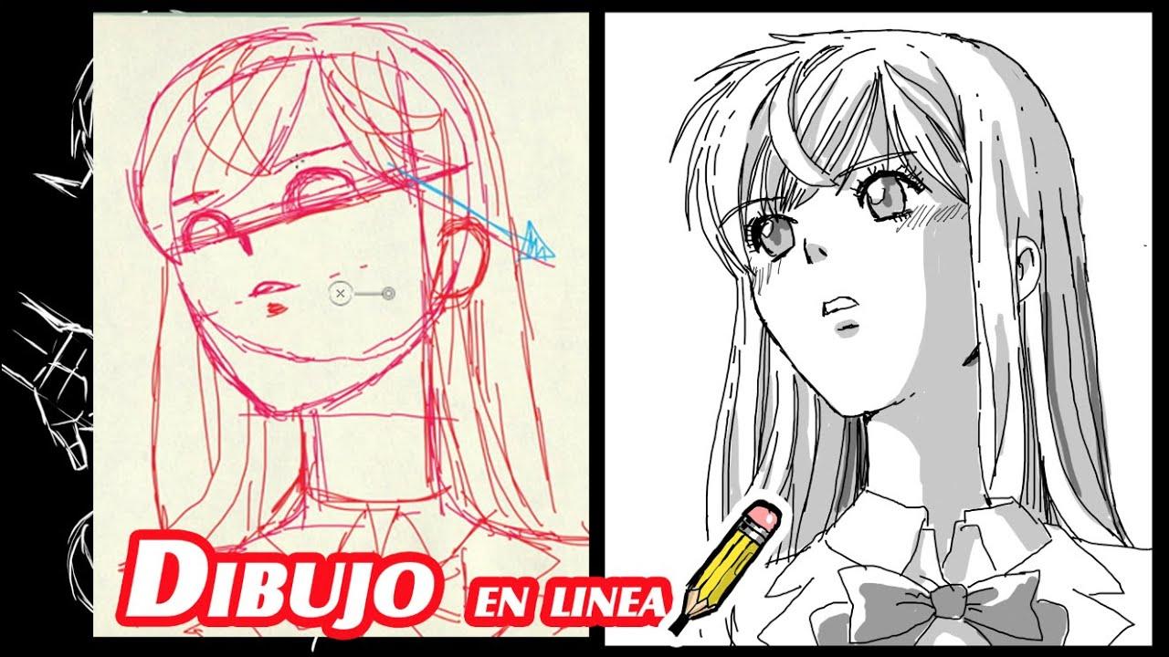 Como Dibujar Y Pintar Facil El Rostro De Una Mujer De: Como Dibujar El Rostro Manga Tres Cuartos En Vista