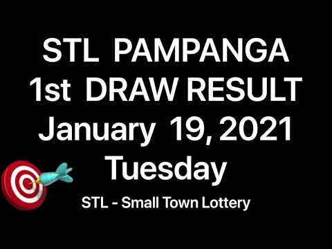 STL PAMPANGA 1st Draw Result January 19, 2021 Small Town Lottery Stl Pares PCSO