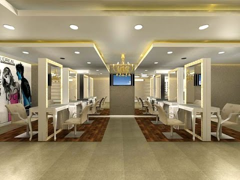 Beauty salon interior design neha unisex salon new for Photos salon design
