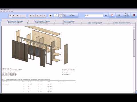 Cabinet Pro Software Shop Drawings And Cut List Reports Youtube