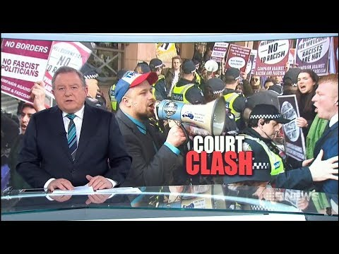 Seven + Nine News. Zionists Protest Against Free Speech Trial.(UPF)(Melbourne Magistrates Court)