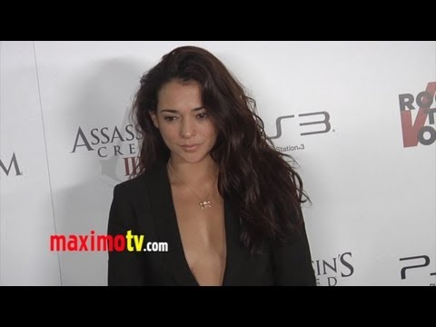 Natalie Martinez at ASSASSINS CREED III Video Game Launch ARRIVALS