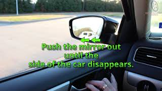 Online Texas Six Hour Adult Drivers Ed Course  Adjusting Your Side Mirrors  Traditional Method