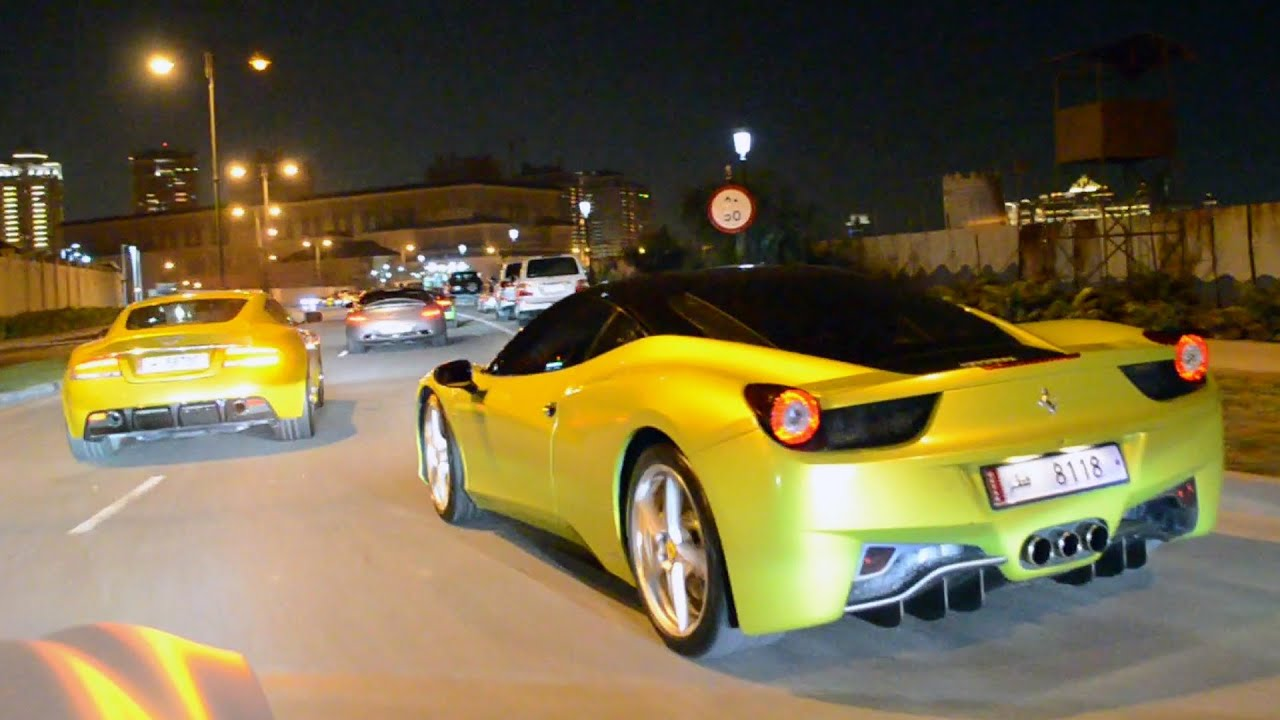 Supercar Traffic In Qatar Youtube