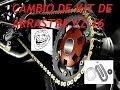 CAMBIO DE KIT DE ARRASTRE Yamaha FZ16 PARTE 1