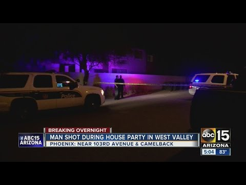 Man shot during house party in west Phoenix