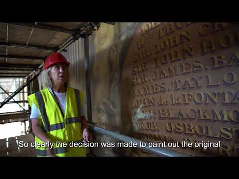 Painted Hall Project: benefactor boards