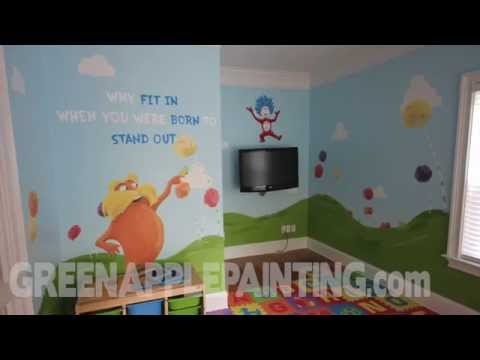 Dr Seuss Mural Kids Bedroom Ideas Kids Playroom