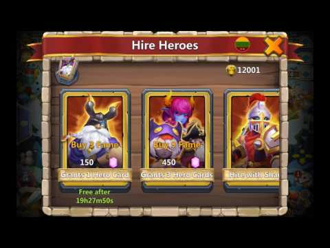 10,000 Gem Rolling For New Heroes Castle Clash